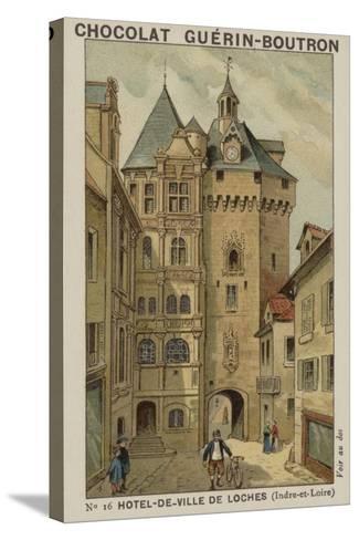 Hotel-De-Ville De Loches, Indre-Et-Loire--Stretched Canvas Print