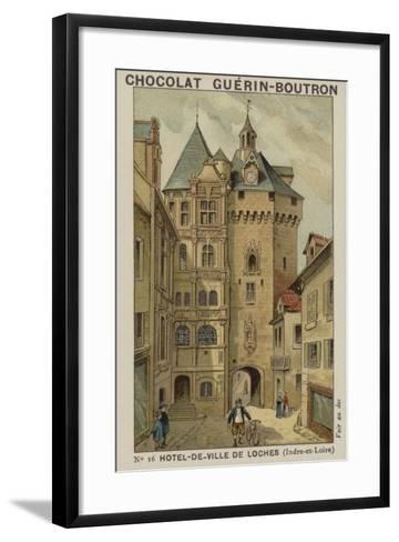 Hotel-De-Ville De Loches, Indre-Et-Loire--Framed Art Print