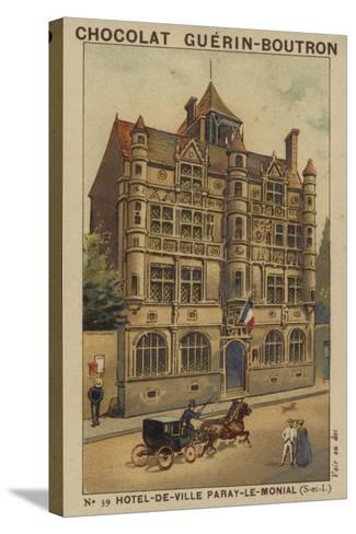 Hotel-De-Ville Paray-Le-Monial, Saone-Et-Loire--Stretched Canvas Print