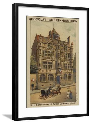 Hotel-De-Ville Paray-Le-Monial, Saone-Et-Loire--Framed Art Print