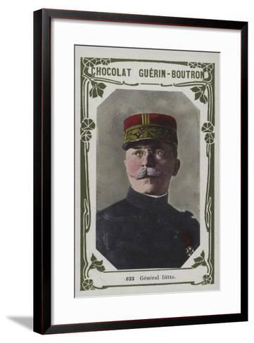 General Ditte--Framed Art Print