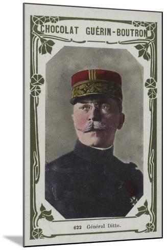 General Ditte--Mounted Giclee Print