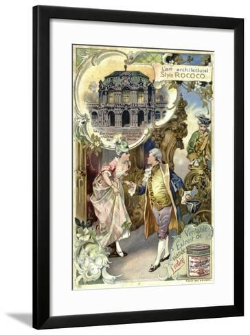 Rococo Architecture; Zwinger Palace, Deresden--Framed Art Print