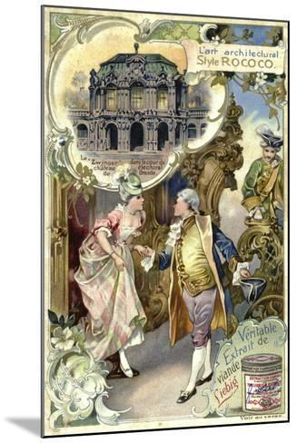 Rococo Architecture; Zwinger Palace, Deresden--Mounted Giclee Print