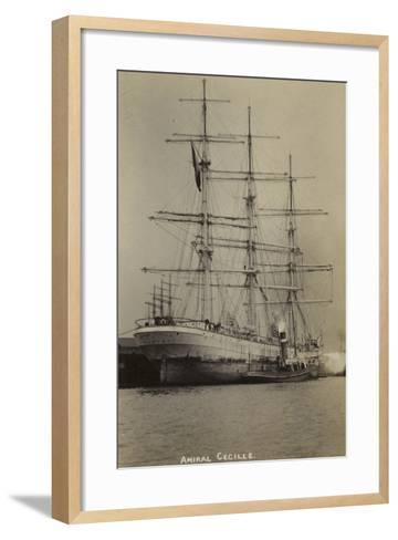 Amiral Cecille, French Bounty Ship--Framed Art Print