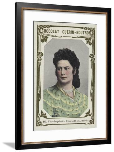 Feue Imperatrice Elisabeth D'Autriche--Framed Art Print