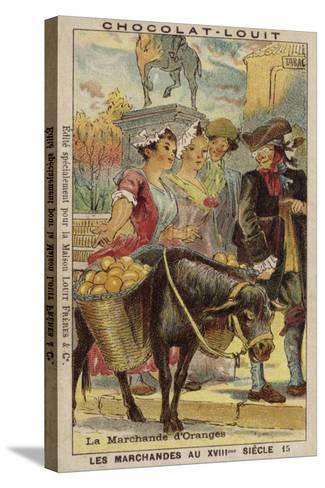 Orange Seller, 18th Century--Stretched Canvas Print
