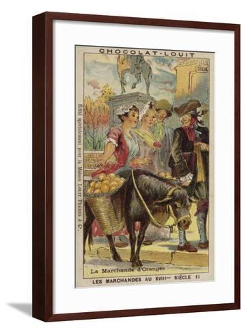 Orange Seller, 18th Century--Framed Art Print