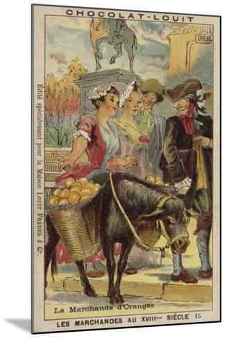 Orange Seller, 18th Century--Mounted Giclee Print