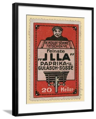 Advertisement for Jlla Paprika and Goulash Sauce--Framed Art Print