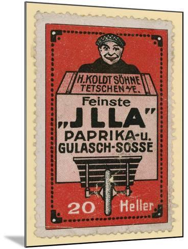 Advertisement for Jlla Paprika and Goulash Sauce--Mounted Giclee Print
