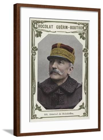 General De Boisdeffre--Framed Art Print