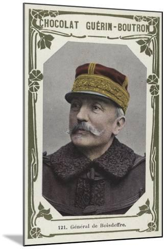 General De Boisdeffre--Mounted Giclee Print