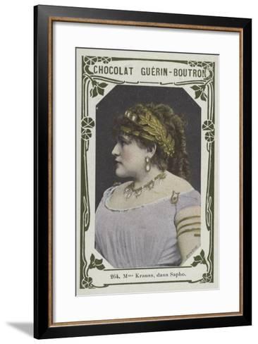 Madame Krauss, Dans Sapho--Framed Art Print