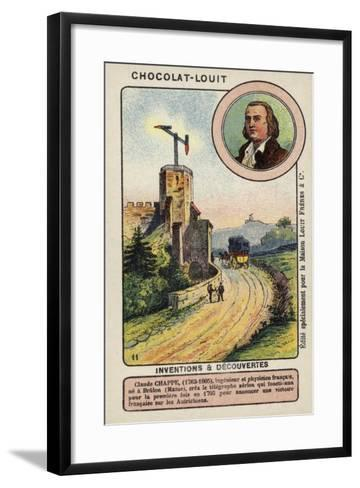 Claude Chappe, French Inventor--Framed Art Print
