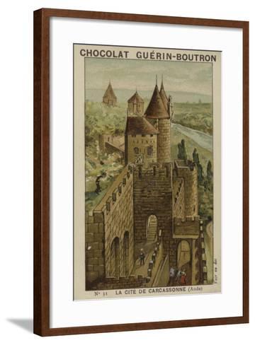 La Cite De Carcassonne, Aude--Framed Art Print