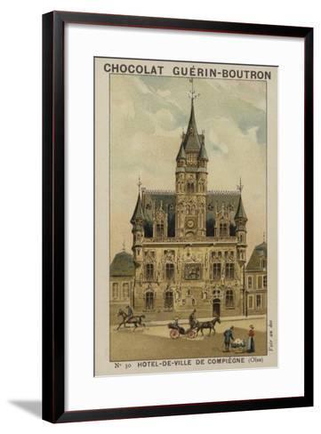 Hotel-De-Ville De Compiegne, Oise--Framed Art Print