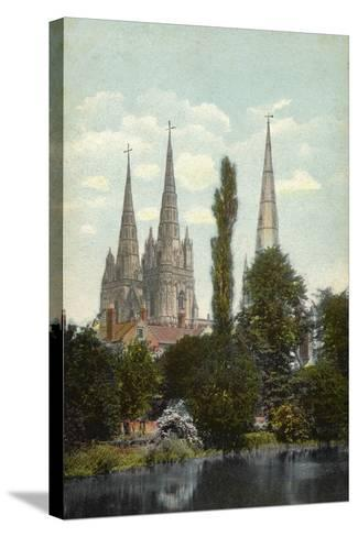 Lichfield, Cathedral--Stretched Canvas Print