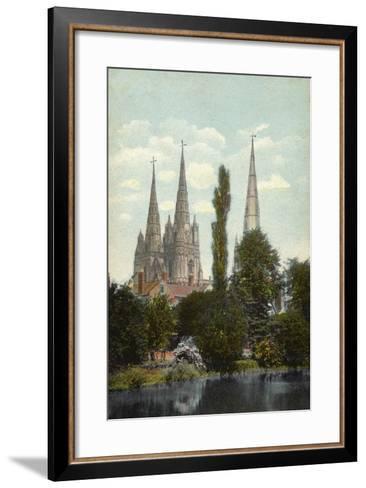 Lichfield, Cathedral--Framed Art Print