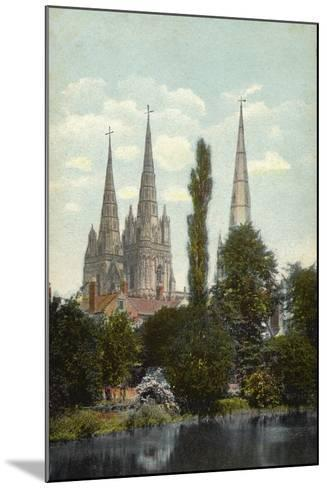 Lichfield, Cathedral--Mounted Photographic Print
