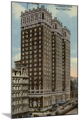 Vanderbilt Hotel, New York City, Usa--Mounted Photographic Print