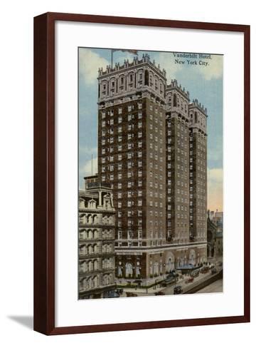 Vanderbilt Hotel, New York City, Usa--Framed Art Print