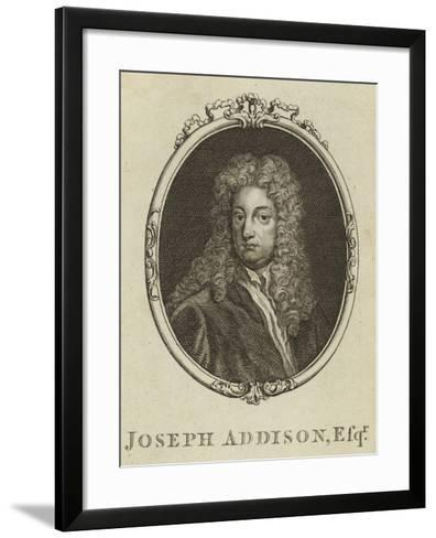 Joseph Addison, Esquire--Framed Art Print