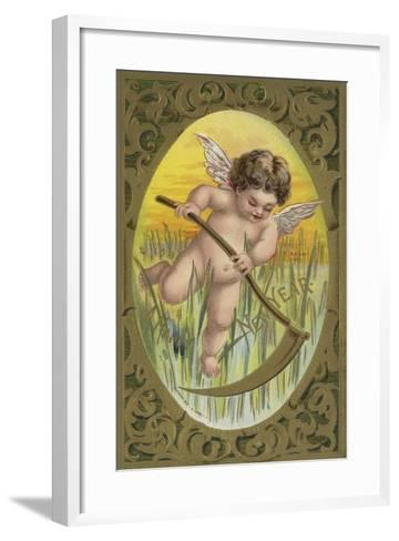New Year Card--Framed Art Print