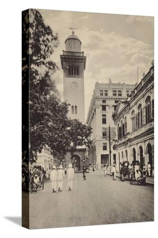 Street Scene in Lahore--Stretched Canvas Print