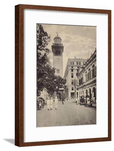 Street Scene in Lahore--Framed Art Print