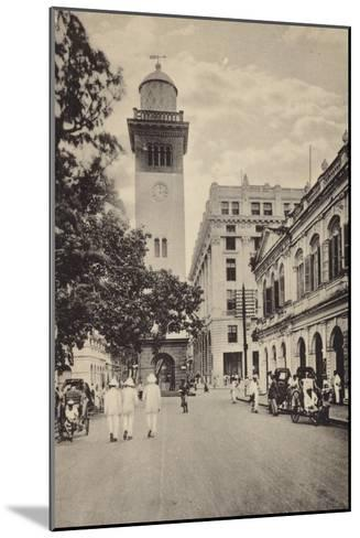 Street Scene in Lahore--Mounted Photographic Print