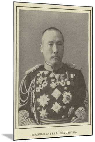 Major-General Fukushima--Mounted Photographic Print