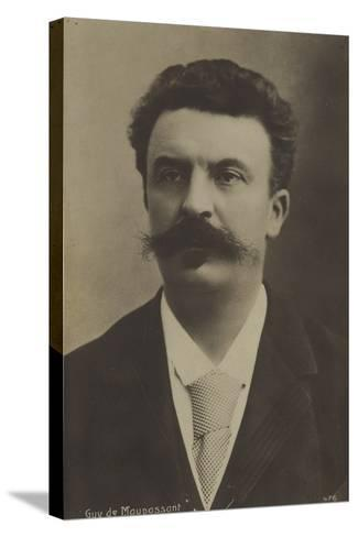 Guy De Maupassant, French Author--Stretched Canvas Print