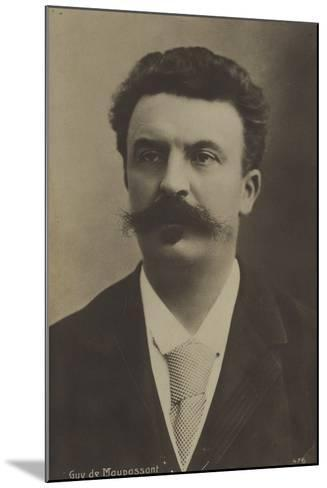 Guy De Maupassant, French Author--Mounted Photographic Print