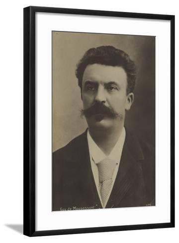 Guy De Maupassant, French Author--Framed Art Print