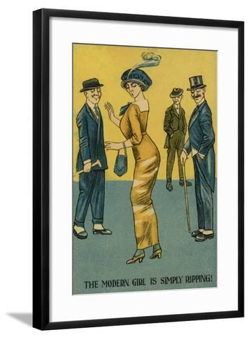 The Modern Girl Is Simply Ripping!--Framed Art Print