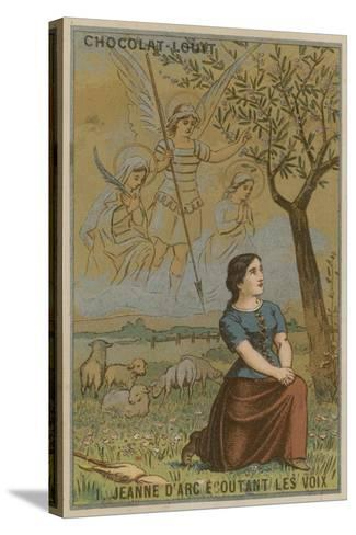 Joan of Arc Listening to Voices--Stretched Canvas Print