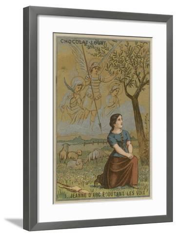 Joan of Arc Listening to Voices--Framed Art Print