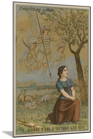 Joan of Arc Listening to Voices--Mounted Giclee Print