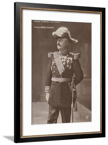 General D'Esperey--Framed Art Print
