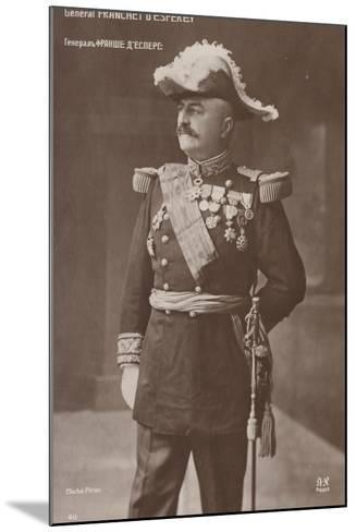 General D'Esperey--Mounted Photographic Print