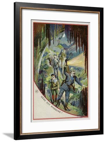 Bebe Is Reassured--Framed Art Print