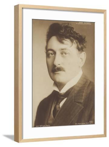Jean Gilbert, German Operetta Composer--Framed Art Print