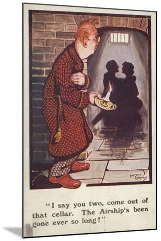 Man Talking to Romantic Couple in Cellar--Mounted Giclee Print