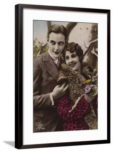 Happy Young Couple--Framed Art Print