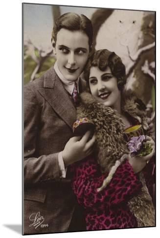Happy Young Couple--Mounted Photographic Print