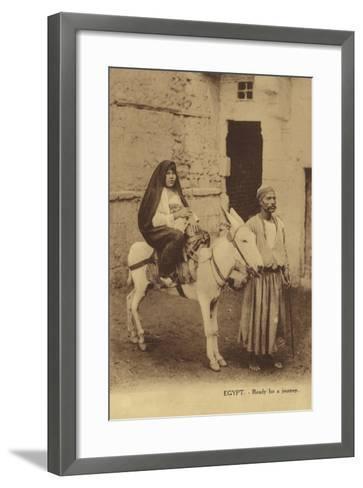 Egypt - Ready for a Journey--Framed Art Print
