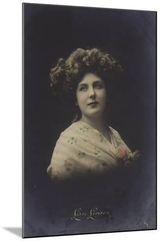 Lissi Lorison, Actress--Mounted Photographic Print