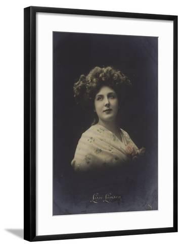 Lissi Lorison, Actress--Framed Art Print