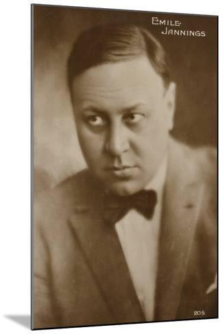 Emile Jannings--Mounted Photographic Print